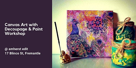 Canvas Art with Decoupage and Paint Workshop tickets