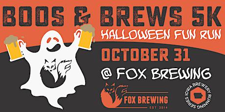 Boos & Brews 5k - Fox Brewing | 2021 Iowa Brewery Running Series tickets