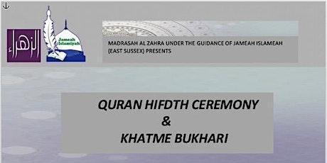 Quran Hifdh Ceremony & Khatme Bukhari tickets