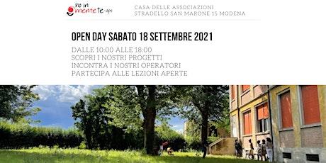 Open Day 18 settembre 2021 biglietti
