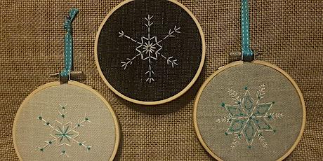 Japanese Sashiko Snowflake Embroidery tickets