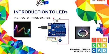 Intro to LEDS using TinkerCAD tickets