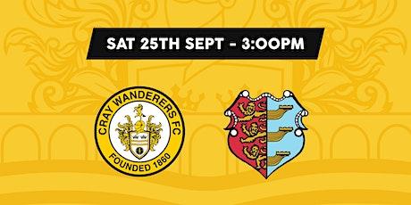 Cray Wanderers VS Brightlingsea Regent tickets