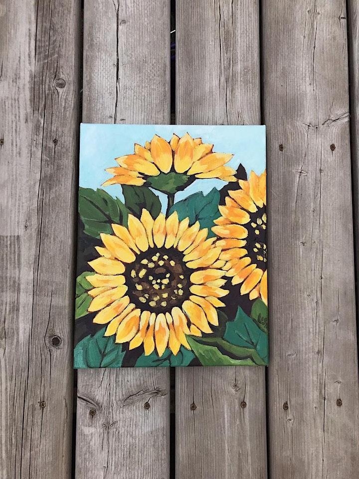Painting Sunflowers with Lisa Leskien image