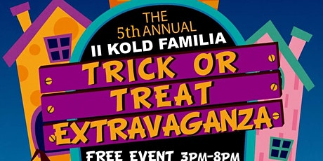 II KOLD FAMILIA 5THANNUAL TRICK OR TREAT EXTRAVAGANZA BY DALLAS YOUTH SPORT tickets
