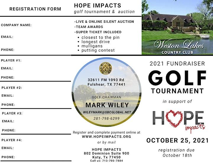 Hope Impacts 2021 Golf Tournament & Auction image