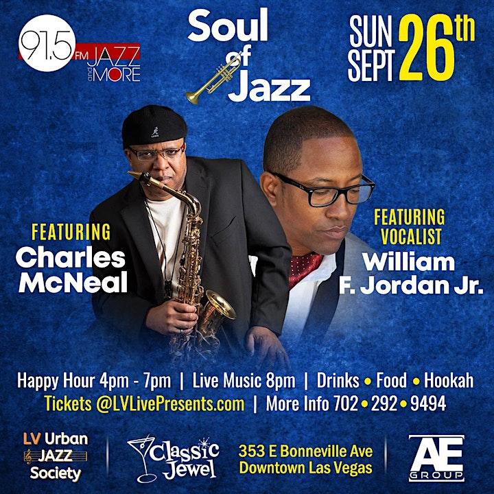 KUNV 91.5 Presents Soul of Jazz f/ Charles McNeal & William F. Jordan Jr. image