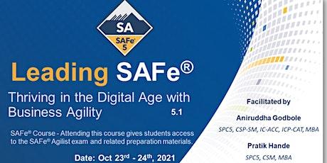 Leading SAFe Certification - SAFe Agilist 5.1 - (Virtual - USA/CAN/EU) ingressos