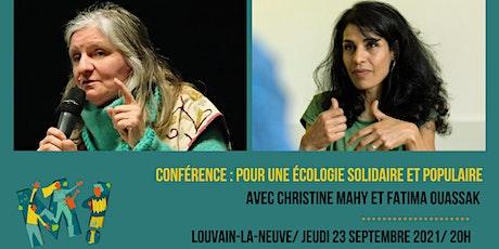 Fatima Ouassak et Christine Mahy : Pour une écologie solidaire et populaire billets