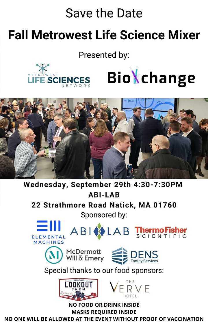 Fall MetroWest Life Science Mixer image