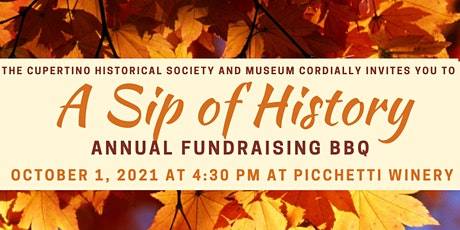 A SIP OF HISTORY: ANNUAL FUNDRAISING BBQ tickets