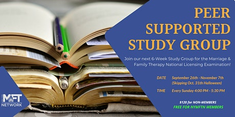 Fall '21 Peer-Supported Study Group for the MFT National Licensing Exam tickets