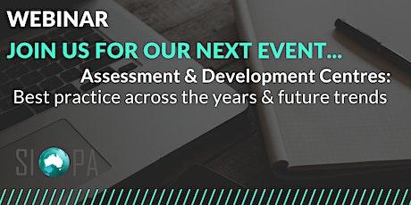 Webinar: Assessment & Development Centres tickets