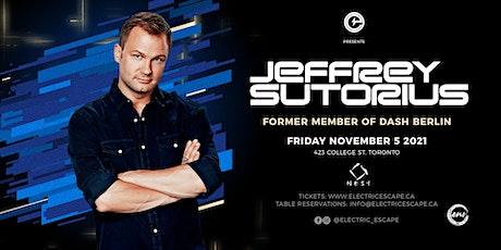Jeffrey Sutorious (Former Member of Dash Berlin) tickets