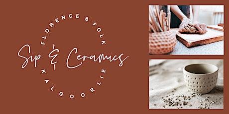 Sip & Ceramics tickets