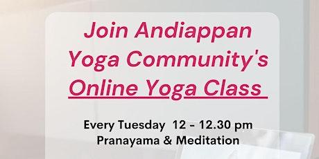 Free Online Yoga Class tickets