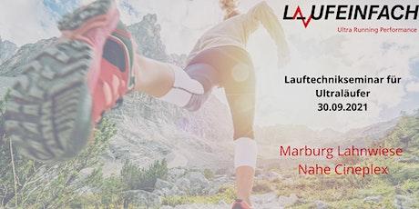 UltraRunning Performance Lauftechniktraining  Marburg Lahnwiese Cineplex Tickets