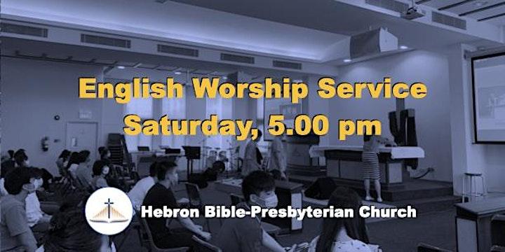 Saturday, 5 ㏘ English Worship Service image