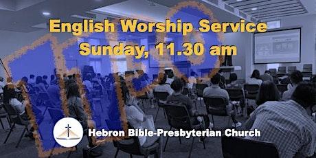 Sunday, 11.30 ㏂ English Worship Service tickets