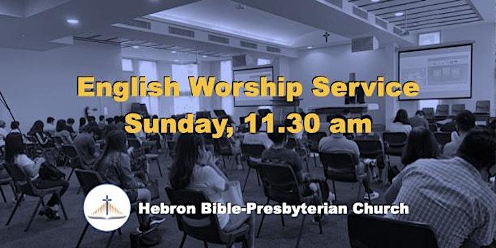 Sunday, 11.30 ㏂ English Worship Service image
