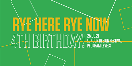 Rye Here Rye Now September – Fourth Birthday tickets