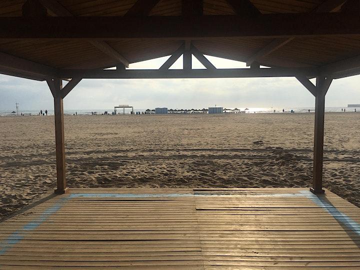 Calistenia con anillas en la playa/Calisthenics with ring on the beach image
