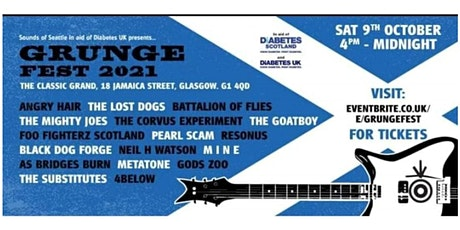 GrungeFest 2021 in aid of Diabetes UK tickets
