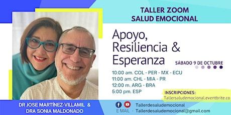 Taller virtual de Salud Emocional: Apoyo, Resiliencia & Esperanza entradas