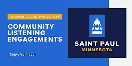 Community Engagement 3 (Construction): October 20, 2021 tickets