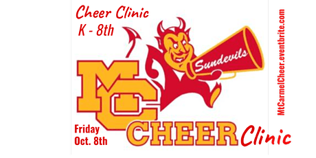CHEER CLINIC ~ Mt. Carmel High School (K-8th graders) tickets