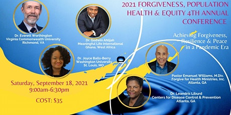 2021 Forgiveness, Population Health, and Equity Conference tickets
