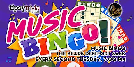 Music Bingo - Sept 21st, 7:00pm - The Bears Den Fort Saskatchewan tickets