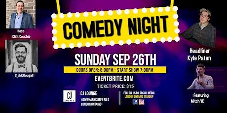 CJ Lounge Comedy Night Presents Kyle Patan tickets