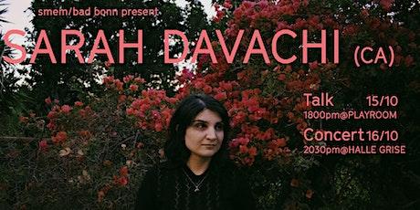 Sarah Davachi Talk @playroom smem billets