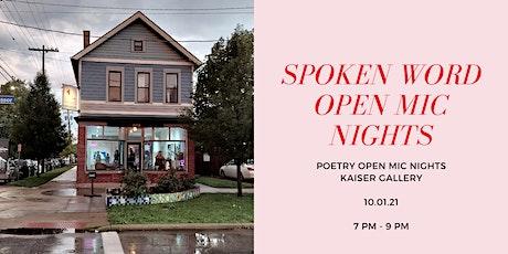 Spoken Word Open Mic Nights tickets