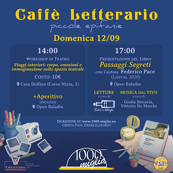 """Immagine Caffè Letterario """"La parola alla penna"""" 2021 - Piccole Epifanie"""