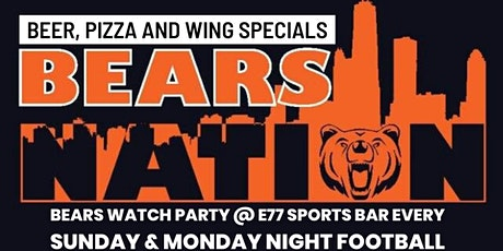 Bears nation - Chicago Bears Watch Party - Bears VS Cincinnati tickets