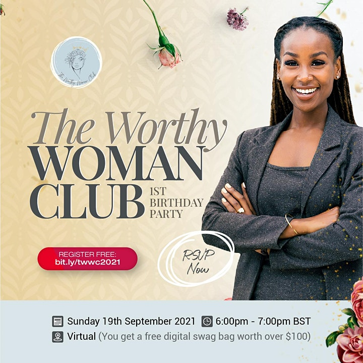 RSVP to Attend The Worthy Woman Club Birthday Party image