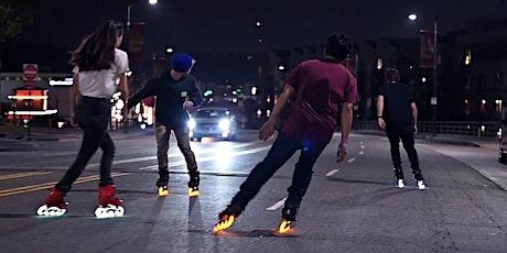The glowskaters! Hamilton city skate luminous roll tickets