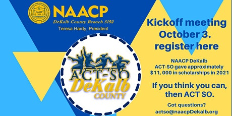 ACT-SO 2021-2022 Kick-off Meeting! tickets