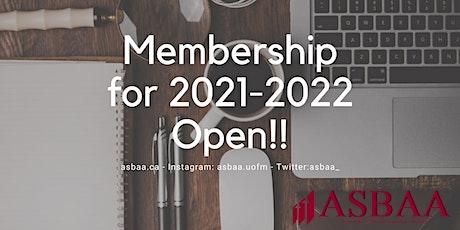 ASBAA Membership 2021/22 tickets