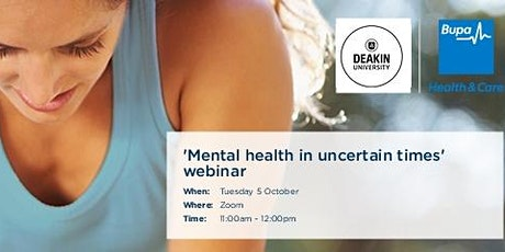 Mental Health in Uncertain Times tickets