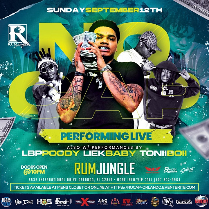 No Cap LIVE In Concert @ Rum Jungle Sunday Sept 12 Orlando Florida image