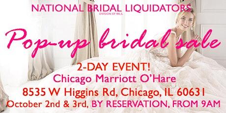 Pop-Up Bridal Sale by National Bridal Liquidators (KK,IL) tickets
