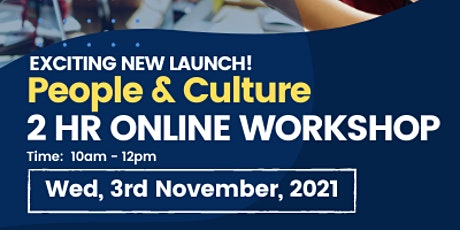 People & Culture 2Hr Online Workshop Tickets