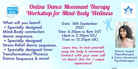 Online Dance Movement Therapy Workshop (Worldwide) tickets