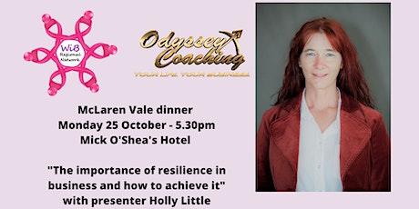 McLaren Vale dinner - Women in Business Regional Network - Mon 25/10/2021 tickets