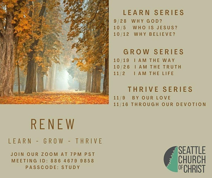 Renew Online Fall Bible Study image
