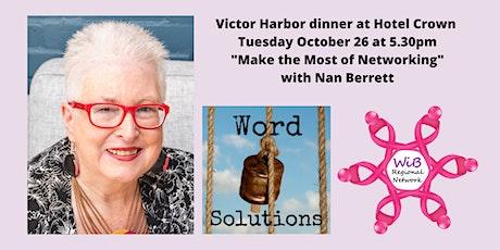 Victor Harbor dinner - Women in Business Regional Network - Tues 26/10/2021 tickets