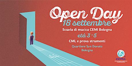 Scuola di musica Cemi / Open Day età 3-5 biglietti
